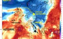 Previsioni estive al completo: nuovo break temporalesco il 2-3 Agosto, poi alimentazione continentale dal Balcani, l'estate resta spesso instabile
