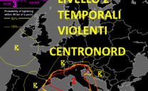 Forte maltempo per 24 h al centronord, dopo Liguria e Toscana il maltempo avanza verso est