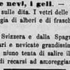 Freddo e Neve del 3 Gennaio 1870