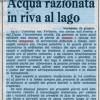 24 Giugno  1976, acqua razionata in riva al Lago Maggiore