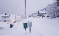 Grande Nevicata a Fine Ottobre a Tromso in Norvegia