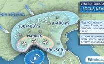 Meteo – tra venerdì e sabato NEVE ANCHE IN PIANURA AL NORD, regioni/città a rischio