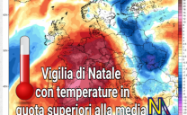 La Vigilia del Natale 2018 trascorrerà con un clima mite.