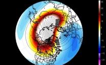 Riscaldamento anomalo della stratosfera terrestre