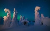 Le sculture di ghiaccio e di neve.