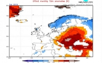 Secondo il NOAA questo mese di Febbraio potrebbe essere alquanto mite in Italia.