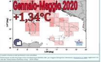 CNR-ISAC: Periodo Gennaio-Maggio 2020 più caldo rispetto alla media di +1,34°C