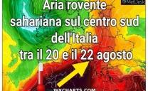 🔥🔥Aria calda sahariana a più riprese sull'Italia nei prossimi giorni 10 gradi, specie al centro e al sud . 🔥🔥