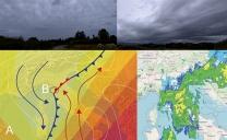 31 agosto 2020…ciclogenesi ed ondulazioni sul fronte freddo…
