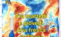 ⛈️Calo termico anche sensibile, temporali, grandinate e vento tra martedì e giovedì sull'Italia ⛈️🌪️🌬️