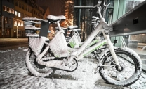 Nevica in pianura in Germania