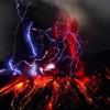 Bellissima eruzione del vulcano Sakurajima