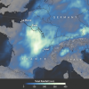I nubifragi di Francia visti dallo Spazio