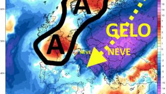 Pesante maltempo sempre al nordovest e poi Tirreno e a fine mese potrebbero arrivare freddo e neve