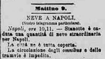 Il Freddo Dicembre 1879, cronache tratte dalla Gazzetta Piemontese