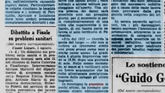 6 agosto 1976, dopo un violento temporale nella zona di bordighera, serre, vigneti e oliveti distrutti dalla grandine: danni per un miliardo