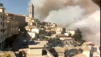 catastrofico incendio a sant'agata di puglia: gli ultimi frame della webcam prima di andare offline
