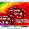 Previsioni 03/08/17. L'Italia nella morsa del caldo estremo dell'anticiclone sub-tropicale! Picchi diffusi di 40°C e oltre. I dettagli