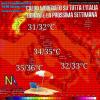 Aria calda subtropicale su tutta l'Italia durante la prossima settimana.