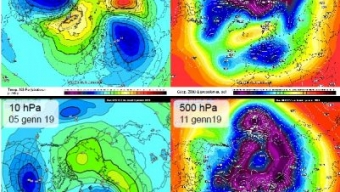 03 gennaio 2019…tra split stratosferici e speranze freddiste…