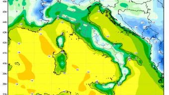 Tra Piemonte e Lombardia valori attuali normali compresi tra 4 e 7 gradi