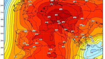 Bolla di calore sull'Europa occidentale: alcune temperature rilevate nel pomeriggio di martedi 26