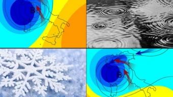 01 febbraio 2019…il nord italia, tra la pioggia e la neve…