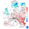 Caldo su gran parte dell'Europa tra il 28 di Gennaio e il 2 di Febbraio.