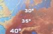 Ondata di caldo sahariana in rotta durante la prossima settimana sull'Europa centrale e sud occidentale.