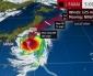 Tifone Faxai in rotta verso Tokyo in Giappone