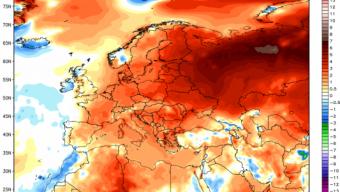 Prime due decade di dicembre con un clima decisamente mite in tutta l'Europa.
