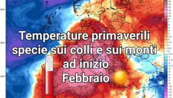 Fase primaverile sull'Italia durante i primi giorni di Febbraio.