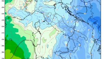 Alla fine su mezza Pianura Padana, in specialmodo, quella occidentale, la previsione dell'aria fredda, si è rivelata una fake news..