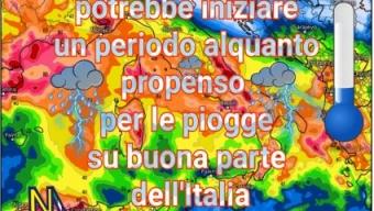 In arrivo sull'Italia una fase fresca e piovosa.