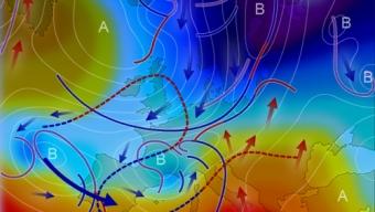 11 maggio 2020…aria artica ed aria sub-tropicale in opposizione sul continente…