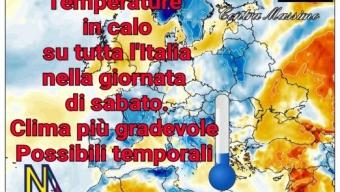Stop caldo! In arrivo piogge, temporali e temperature più gradevoli da venerdì e soprattutto nel fine settimana.