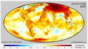 Il 2020 potrebbe risultare l'anno più caldo mai registrato a livello globale.