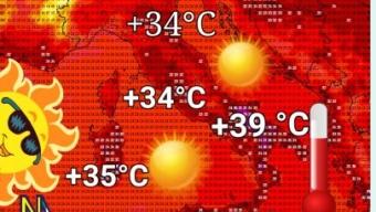 🥵Caldo in un ulteriore intensificazione fino a giovedì sul nostro meridione🥵. Punte locali vicine ai +40°C.