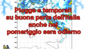 ⛈️⛈️Piogge, temporali e grandinate anche oggi specie nel pomeriggio sera su gran parte dell'Italia ⛈️⛈️
