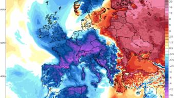 Aria fredda artica sull'Italia. 🌬️❄️❄️