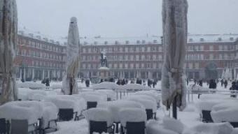 Inverno record in Spagna -35,8 gradi e tanta neve a Madrid.