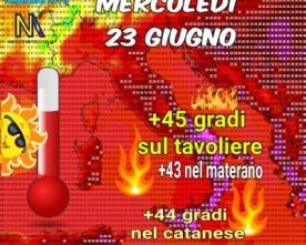 Aria calda sahariana a più riprese sull'Italia specie su quella centrale e meridionale. 🌡️