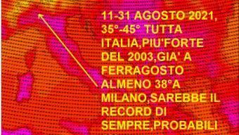 CALDO DEVASTANTE ANCORA IN ARRIVO 40° A MILANO&NORD ITALIA, DALL'11 AGOSTO A TUTTO IL 31!