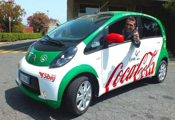 Sibeg (Coca Cola), in Sicilia 100 auto elettriche venditori