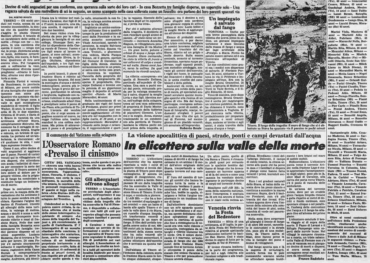 15 3 19 luglio, 32°anniversario della catastrofe di Stava