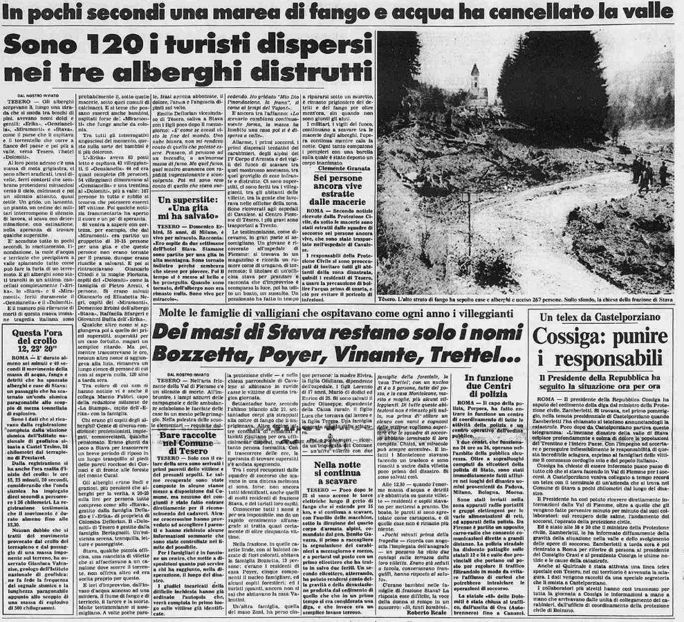 2 12 19 luglio, 32°anniversario della catastrofe di Stava