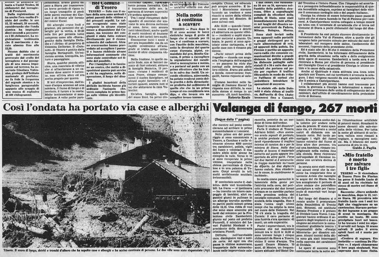 3 5 19 luglio, 32°anniversario della catastrofe di Stava