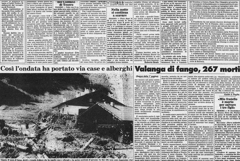 4 5 19 luglio, 32°anniversario della catastrofe di Stava