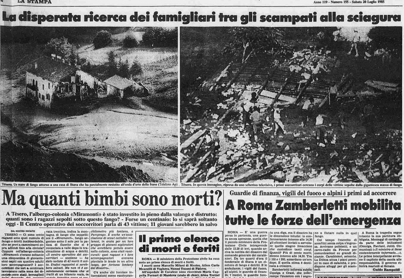 6 5 19 luglio, 32°anniversario della catastrofe di Stava