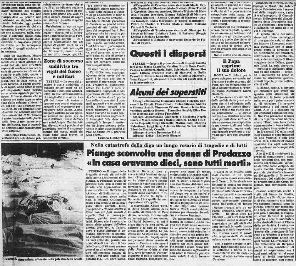 7 3 19 luglio, 32°anniversario della catastrofe di Stava